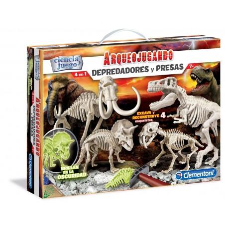 Dinosaures 4 en 1 florescents