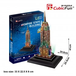 Empire State Building Puzle 3D LED