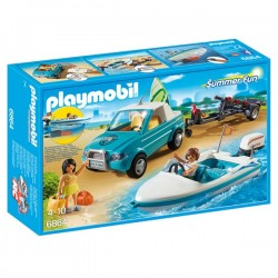 Playmobil pick up amb llanxa