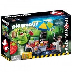 Playmobil Slimer amb estand de hot dog