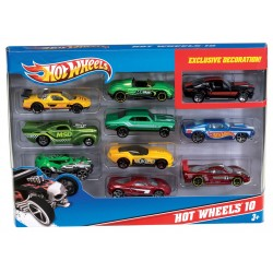 Hot Wheels Pack 10 vehicles