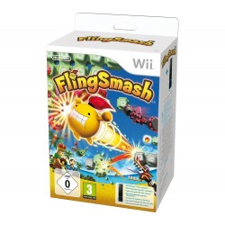 Juego Wii Fling Smash + Wii Remote Plus negro