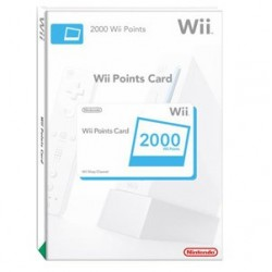 Wii Points card 2000 puntos