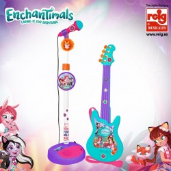 Enchantimals micro y guitarra