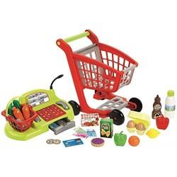 Caja registradora y carrito de supermercado