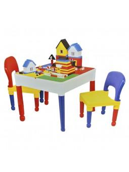 Taula quadrada amb 2 cadires