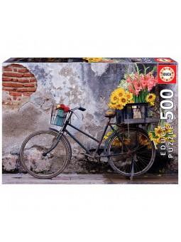 Puzle 500 Bicicleta amb flors