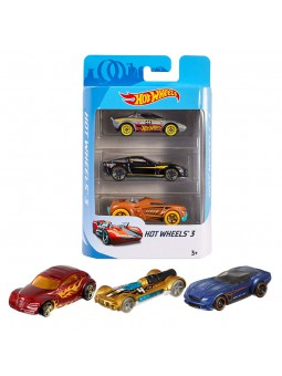 Hot Wheels Pack de 3 cotxes
