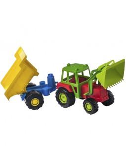Tractor amb pala i remolc