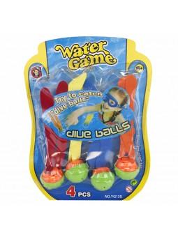 Set 4 boles aquàtiques