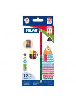Caixa 12 llapis bicolors...