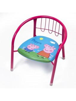 Cadira metall Peppa Pig