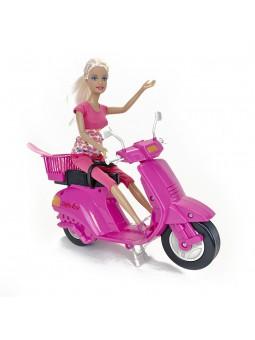 Nina moderna amb moto