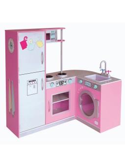 Cuina modular rosa