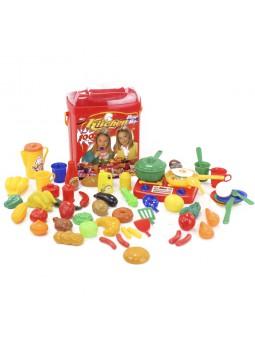 Cub aliments de plàstic cuina 100 peces