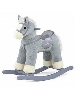 Cavall balancí gris amb rodes i sons