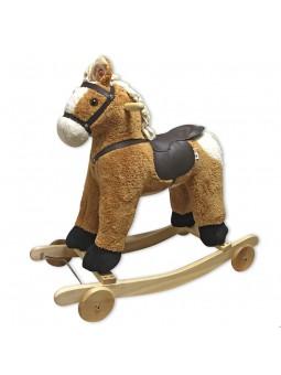 Cavall balancí amb rodes i sons