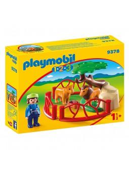 PLAYMOBIL® Playmobil 1.2.3 Recinte lleons