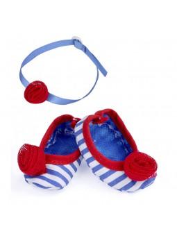 Nenuco sabates i accessoris: blau i vermell