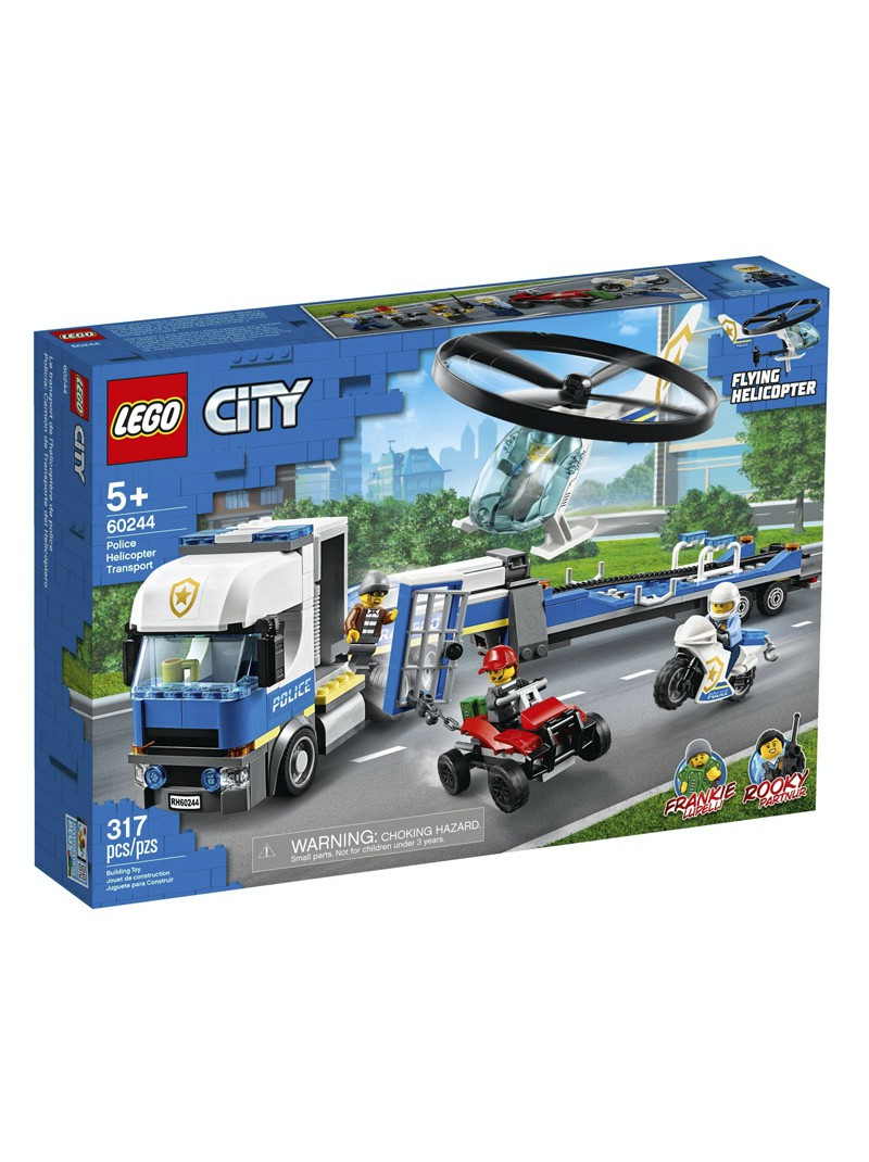 LEGO® City Policia: Camió de Transport de l'Helicòpter