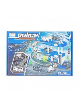 Pàrquing policia llums i sons