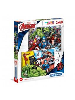 Puzzle 2x60 Avengers