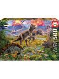 Puzle trobades de dinosaures 500 peces