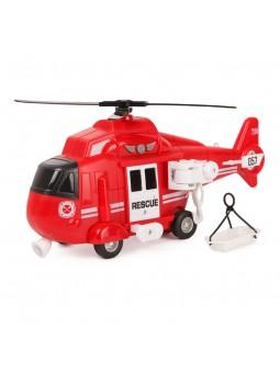 Helicòpter de rescat vermell amb so i moviment