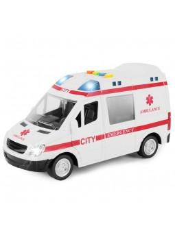 Ambulància amb llum i so, escala 1:16