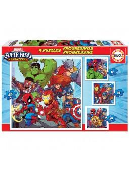 Puzles progressius Super herois Marvel