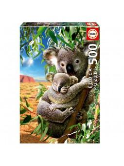 Puzle Koala amb el seu cadell de 500 peces