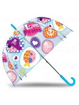 "Paraigües transparent Pirates 19"""