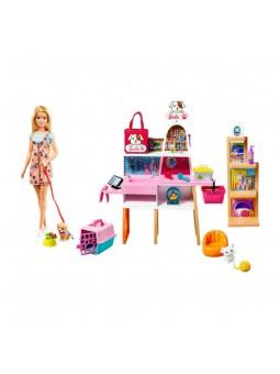 Barbie amb botiga de mascotes