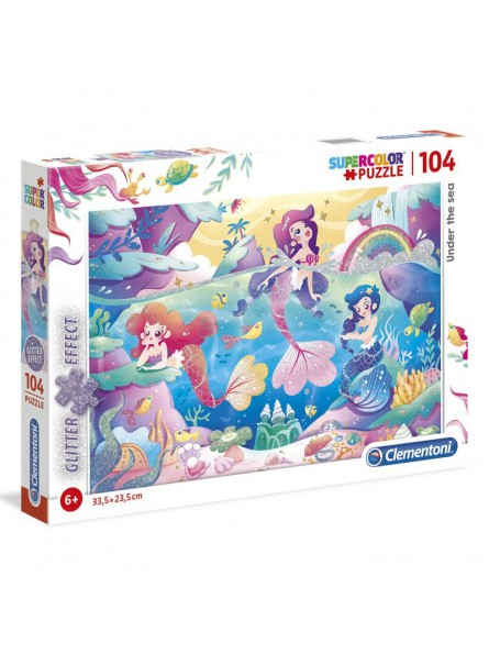 Puzle Sirenes efecte brillantina de 104 peces