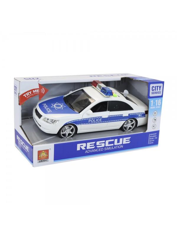 Cotxe de policia amb llum i sons escala 1:16