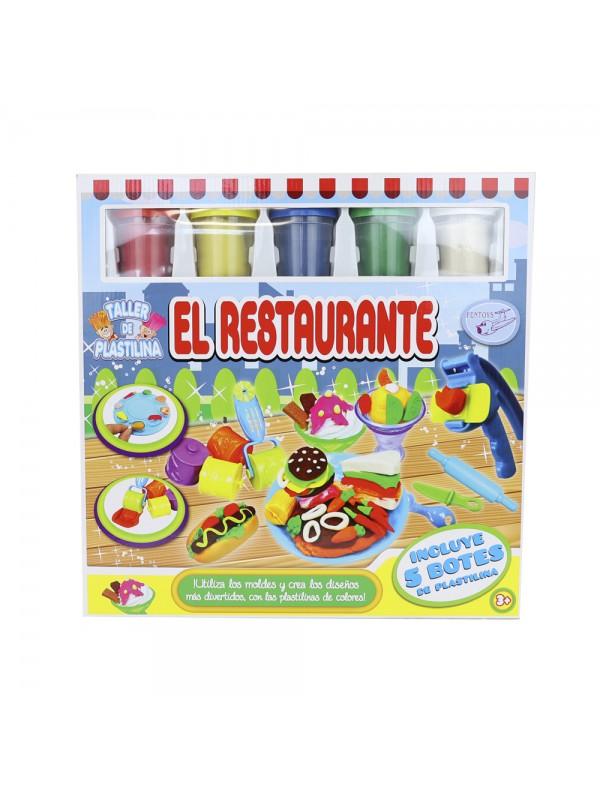 """Set de plastilina """"El restaurant"""" amb 5 pots i accessoris"""