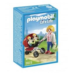 Playmobil mama cotxet amb bessons