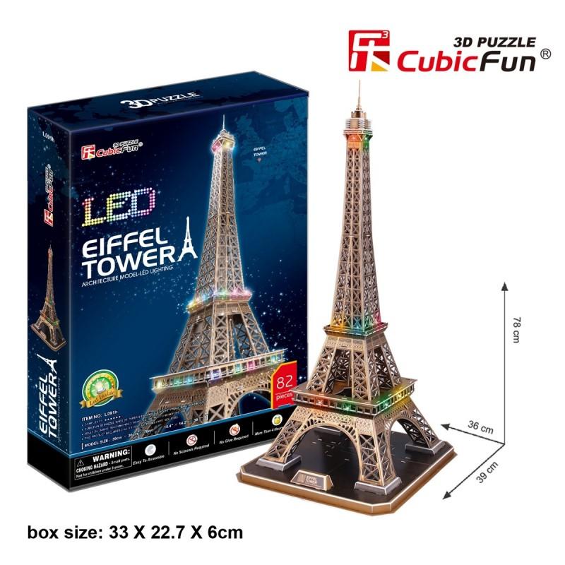 Torre Eiffel Puzle 3D LED
