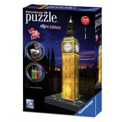 Puzzle 3D Buildings Big Ben amb llum