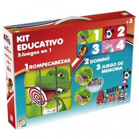 Kit educativo 3 juegos en 1