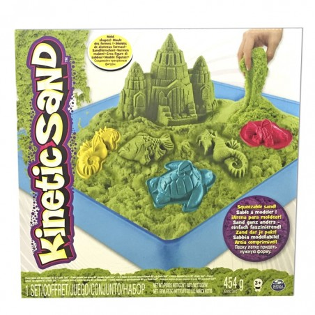 Kinetic Sand Playset Castell verd / lila