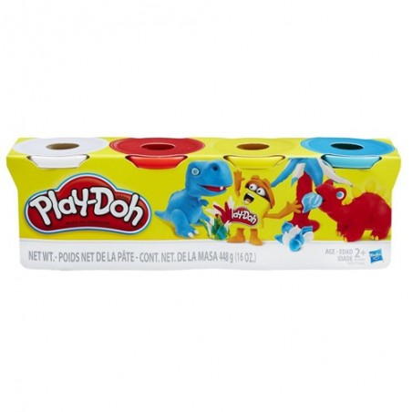 Play-doh pack 4 pots