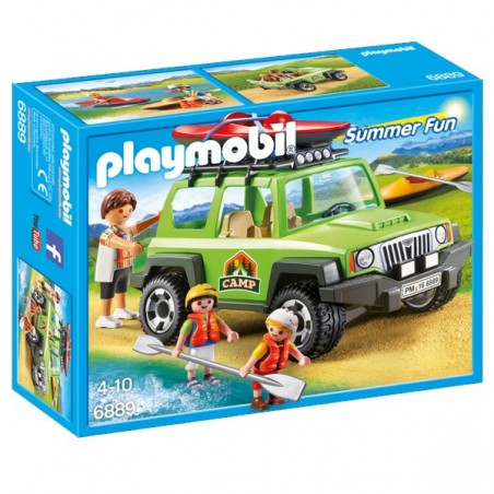 PLAYMOBIL® vehicle 4x4 amb canoa