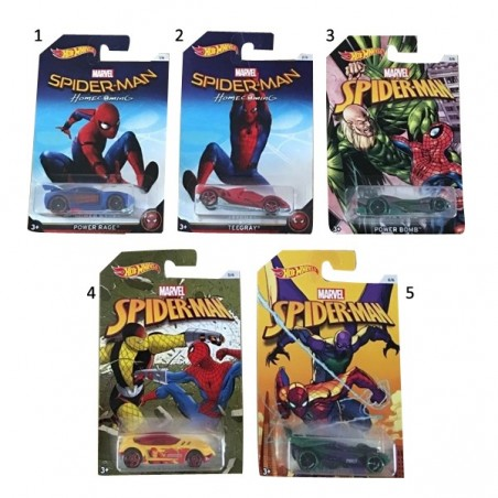 Hot Wheels Spiderman cotxes